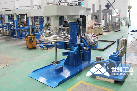 Closed/Vacuum High Speed Disperser (Hydraulic Lifting) typical case