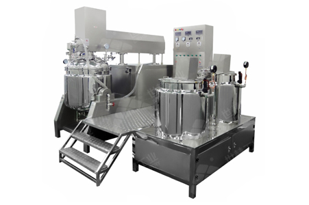 Vacuum emulsifying mixing unit